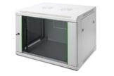 DIGITUS Professional 7HE Netzwerk Wandgehäuse / Wandschrank, Dynamic Basic Serie, Grau (RAL 7035) -