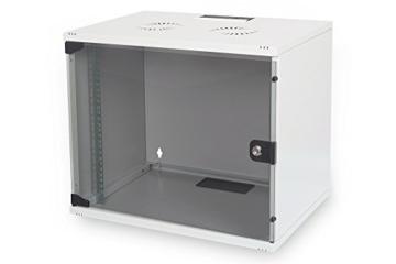 DIGITUS Professional 7HE Netzwerk Wandgehäuse / Wandschrank UNMONTIERT, SOHO Compact-Serie, 370x540x400 mm, grau (RAL 7035) -