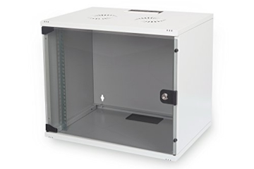 DIGITUS Professional 9HE Netzwerk Wandgehäuse / Wandschrank UNMONTIERT, SOHO Compact-Serie, 460x540x400 mm, grau (RAL 7035) -
