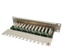 "LogiLink Patch Panel 10"" CAT6 12port vollgeschirmt grau -"